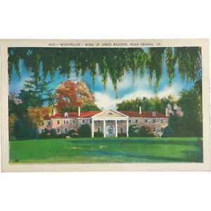 Vintage Postcard, Montpelier, Home of James Madison, Orange, Virginia