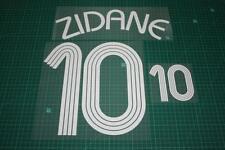 France 06/08 #10 ZIDANE Homekit Nameset Printing