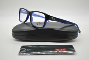 NEW RAY BAN RB 5268 5179 BLACK AND BLUE AUTHENTIC EYEGLASSES FRAMES RX 52-17
