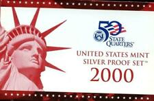 2000 USA Silver Proof Set with Quarters - Mint in Box with COA