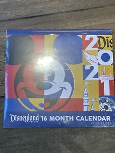 Disney Parks Disneyland Resort 16 Month Calendar 2020-2021 Brand New Sealed