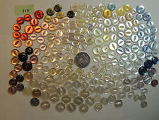 BULK BUTTONS- 212 PLASTIC PEARL- MOST UNUSED-SOME V.G.USED,SEW THROUGH-9-14mm