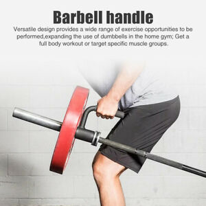 Barbell Handle Fitness Home Landmine Attachment Workout T Bar Row Gym Equipment
