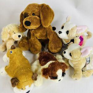Lot of 6 Gantz and Gund Plush Dogs