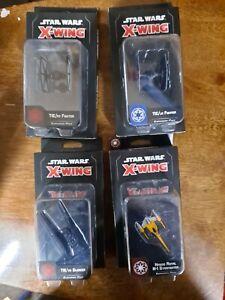 Star Wars X-Wing Miniatures Lot TIE & Starfighter Lot