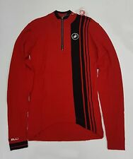 Castelli Winter Costante Men's Long Sleeve Cycling Wool Jersey Red Size S