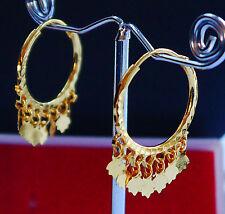 22 CT Oro Plateado pendiente Hoop Moda Joyería étnica Indio Asiático e20