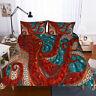 3D Octopus Bedding Set Duvet Cover Comforter Cover Pillow Case