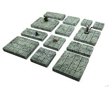 Handmade Stone Dungeon Tiles (1 Inch 28mm Grid Terrain for Dungeons and Dragons)