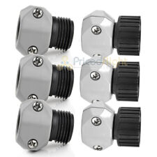 """6 Pack Bond Garden Water Hose Couplers 3 Male 3 Female Connectors 5/8"""" - 3/4"""""""