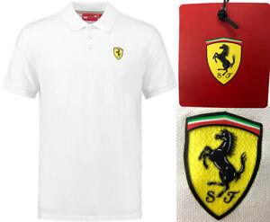Scuderia Ferrari F1 Golf Polo Shirt - RRP£60 - Premium Mens - XS SMALL MEDIUM XL