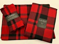 RALPH LAUREN JOES POINT BUFFALO PLAID PRINT: TABLECLOTH - PLACEMATS - NAPKINS