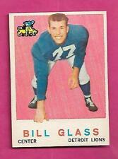 1959 TOPPS # 122 LIONS BILL GLASS ROOKIE NRMT CARD (INV# C0411)