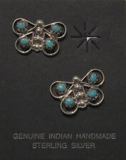 Native American Zuni Earrings - Turquoise -  Butterfly