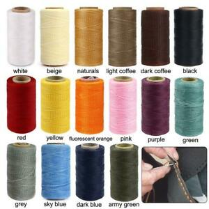 150D 0.8mm 284Yards 36 color Flat Waxed Thread Leather Hand Sewing Stiching C1A5