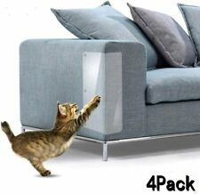 Cat Furniture Protector (Set of 4), Clear Self-Adhesive Pet Scratch Guard for
