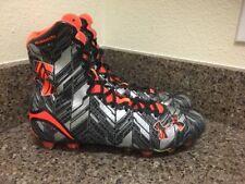 $130 Under Armour Highlight MC Football LAX Lacrosse Cleat ORANGE BLACK 13