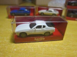 herpa - Scale 1/87 - MINIATUR AUTOMOBILE - Porsche 944 - white Mini Toy Car 2a4