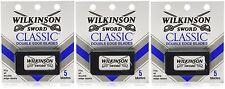 Wilkinson Sword CLASSIC Double Edge Razor Blades (3 packs of 5 = 15 Blades)