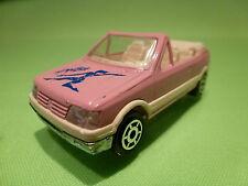 MAJORETTE 281 PEUGEOT 205 GTI CABRIO AEROBICS - PINK 1:53 - RARE SELTEN - GOOD