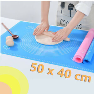 Large Silicone Baking Mat Pastry Rolling Non-Stick Fondant Dough Cookies Cake