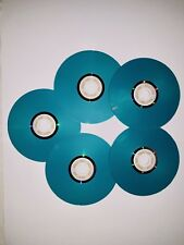 5 Pcs BLUE LightScribe Colored CD-R, 52X Disc Storage 700MB in Jewel Cases