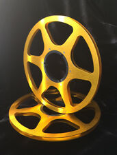 "ONE PAIR   New  10.5"" Anodized  Aluminum metal Reels  Golden"