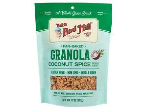 11 OZ Bob's Red Mill Coconut Spice Gluten Free Granola Pan Baked 2 PACK