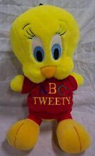 "Wb Looney Tunes Talking Abc Tweety Bird 14"" Plush Stuffed Animal Toy"