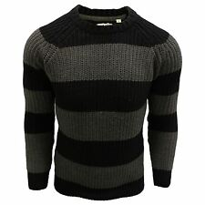 Brave Soul Men's Regular Chunky, Cable Knit Knit Jumpers & Cardigans