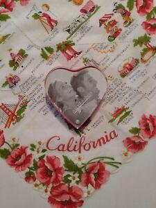 Vintage Heart photo Frame Red Valentine Photo Frame Clear Photo Frame 3x5