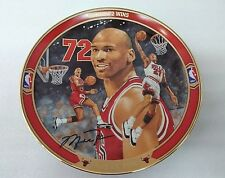 "Bradford Exchange Michael Jordan ""Record 72 Wins"" Collector Plate w/ Coa #2"