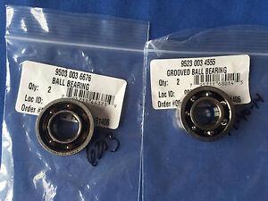Stihl New OEM Chainsaw crankcase bearings MS660 064 066 both sides