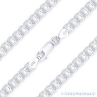 5mm Charm Link .925 Italy Sterling Silver Double-Cable Italian Chain Bracelet