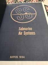 Vintage Submarine Air System Bound Book Dated June 1946 (Navpers 16164)