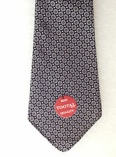 Vintage 1950s Tootal spotty tie UNUSED Red Quality Tebilized Cotton Grey Black