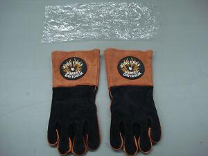New Men's Harley Davidson Ride Free Cow Hide Lined Welders Gloves Large #128K