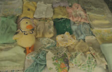lot 30 Vg baby: terry cloth sleepers, receiving blankets real life baby or doll