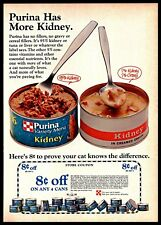 1974 Purina Cat Pets Canned Food Store Coupon Vintage Photo PRINT AD 1970s