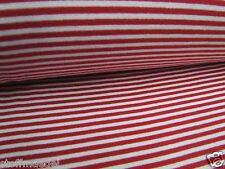 ae8629dcc4c8e5 Ringelbündchen, Bündchen Schlauchware rot mit weiß gestreift 3mm Streifen