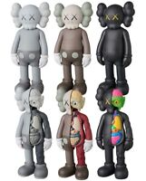 """8"""" Figure KAWS COMPANION Half Dissected Gray BLACK Brown Flayed Open Edition"""