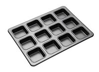 KitchenCraft Masterclass Non-Stick Large Twelve Hole Square Brownie Tray
