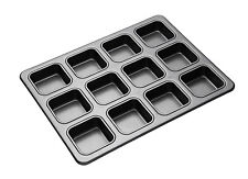 KitchenCraft Masterclass Non-Stick Large Twelve Hole Square Brownie Pan