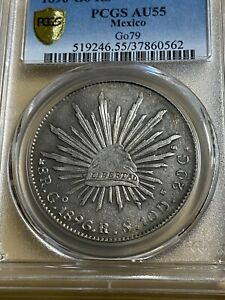 1896-Go RS Mexico 8 Reales Graded AU55 by PCGS!!