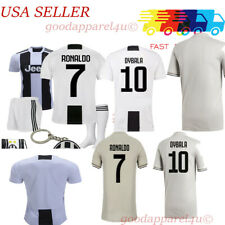 Juve Ronaldo Dybala Kids Jersey Kit Age 1-13 Yrs New with Tags