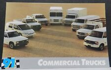 COMMERCIAL TRUCK VAN CUBE ASTRO PROMO 1991 91 CHEVY DEALER DEALERSHIP POSTCARD