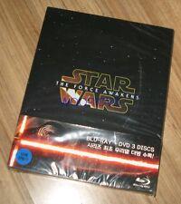STAR WARS THE FORCE AWAKENS / 2BD + 1DVD COMBO PACK STEELBOOK BLU-RAY L.E NEW