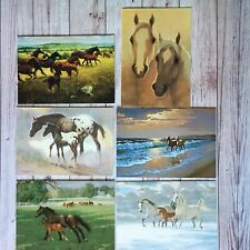 Horses Lot of 6 Beautiful Blank Greeting Cards by Equine Artists w/ Leanin' Tree