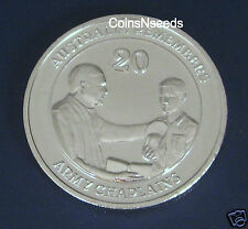 "20c 2013 Australia Remembers "" Royal Australian Army Chaplains "" 20 Cent in card"