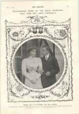 1906 Princess Ena Of Battenberg And King Alfonso Ethel Karri Thomas Gibson Girl